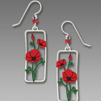 Sienna Sky Earrings - Poppies