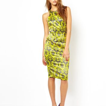 AX Paris High Neck Midi Dress in Oriental Print