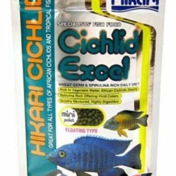 Hikari Fish Food Cichlid Excel Mini Pellets 2 oz