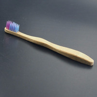 Child Soft Bamboo Teeth Brush Colorful Head Dental Care Toothbrush Wood Toothbrush Brush BPA Free Nylon Bristle