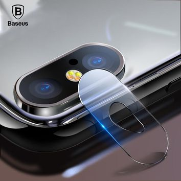 Baseus 0.15mm Tempered Glass Lens Protector For iPhone X Camera Len Glass Film For iPhoneX Back Lens Protection Film 9H Glass