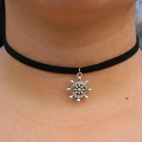 Choker Necklace Outfits   Pendant For Women  Velvet  90's Tattoo