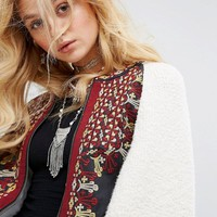 Free People Oversized Two Faced Embroidered Jacket at asos.com
