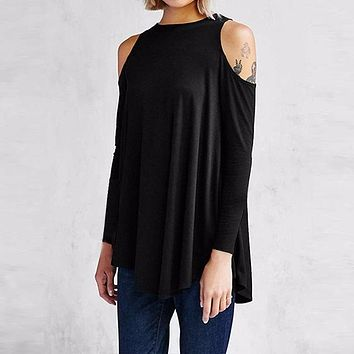 ZANZEA Women Tops Blusas Ladies Sexy Tunic Off Shoulder Long Sleeve Pullover Casual Loose Blouses Shirts Plus Size