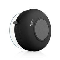 GJT®Wireless Bluetooth Waterproof Shower Speaker: 3.0 Speaker, Mini Water Resistant Wireless Shower Speaker, Handsfree Portable Speakerphone with Built-in Mic, 6hrs of playtime, Control Buttons and Dedicated Suction Cup for Showers, Bathroom, Pool, Boat, C