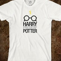Harry Freakin' Potter - light shirt option-Unisex White T-Shirt