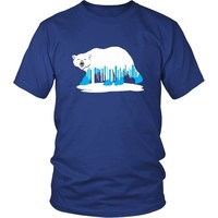 Melting Polar Bear (2) - Unisex Tee