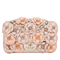 Chanel Pink Quilted Camellia Flap Bag