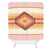 Bianca Green Fiesta Rose Shower Curtain