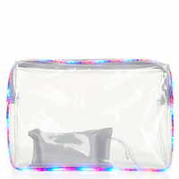 **LED LIGHT UP PVC CLUTCH BY ASHISH X TOPSHOP