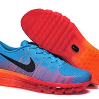 NFM012 - Nike Flyknit Max (Bright Blue/Atomic Orange/Red)