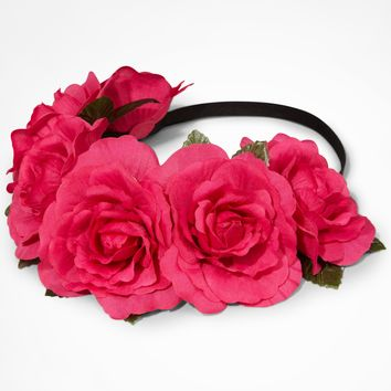 LARGE FLOWER CROWN - PINK
