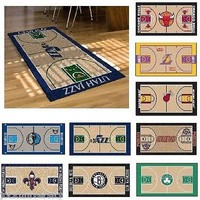 "NBA Teams - 29.5"" X 54"" Large Basketball Court Runner Area Rug Mat"
