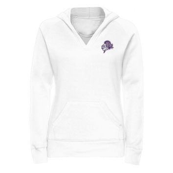Holy Cross Crusaders Ladies Mascot Patch Pullover Hoodie - White