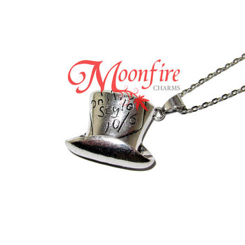 ALICE IN WONDERLAND Mad Hatter's Hat Pendant Necklace