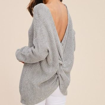 'chloe' twist back sweater