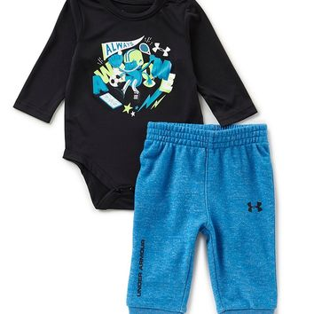 Under Armour Baby Boys Newborn-12 Months Long-Sleeve Graphic Bodysuit & Pant Set | Dillards