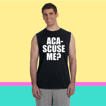 ACA SCUSE ME Sleeveless T-shirt