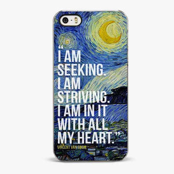 Vincent van gogh the starry night painting iPhone 5/5S Case, quote iPhone 4/4S Cases - iPhone 5C Case, iPhone 6 case