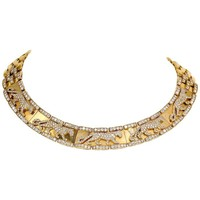 Cartier Panther Diamond and Yellow Gold Necklace