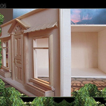 Miniature dollhouse roombox unit 1:12 scale comes empty ready for you to decorate