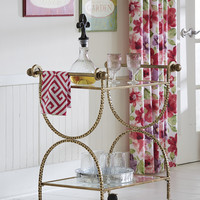 Hammered Bar Cart