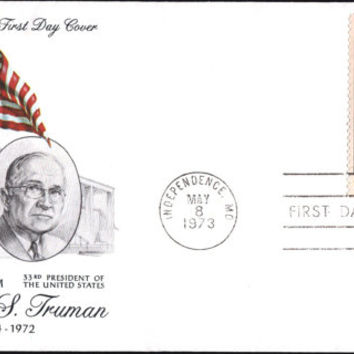 Vintage Harry S. Truman Memorial Stamp First Day Cover 1972