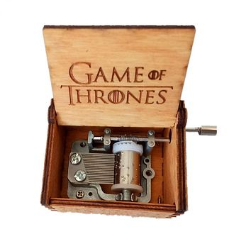 DROPSHIPPING Hand Crank Game of Thrones Engraved Wooden Box play Movie Music Best Toy Gift For fans Unique Christmas Gift