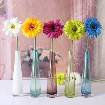 Stained Glass Flower Bottle