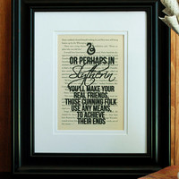 Slytherin Sorting Hat Song - Harry Potter - Book Page Print - Wall Art