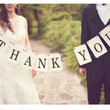 "Handmade Wedding Banner ""THANK YOU"" Party Decorations Chic Banners"