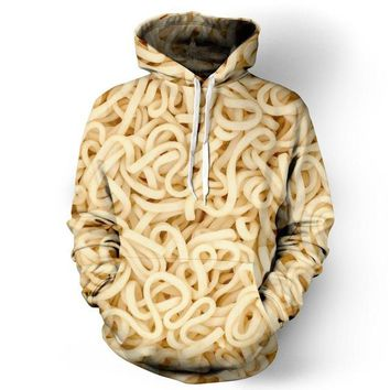 Spaghetti Ramen Noodles Pocket Pullover Hoody Men/Women Hip Hop Print 3D Sweatshirt Character Hoodie Tracksuits Plus S-6XL R1641