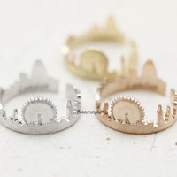London ring, Cityscape ring, souvenir London, skyline ring, city ring, nightline ring, london skyline ring, city ring, uk jewelry,