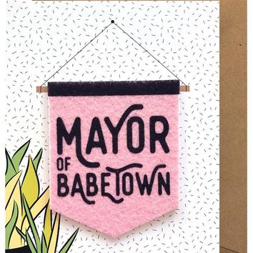Mayor of Babetown Removable Banner Sticker Card