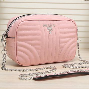 PRADA high-quality leather beautiful stylish handbag F-MYJSY-BB Pink