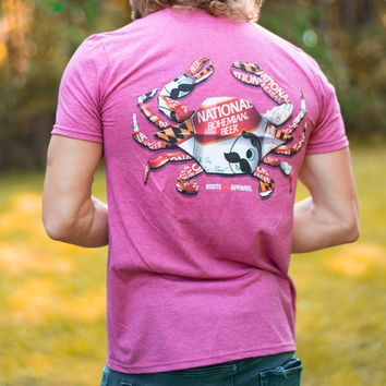 Natty Boh Can Crab (Heather Cardinal) / Shirt