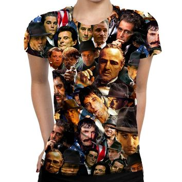 Gangsters Collage Womens T-Shirt