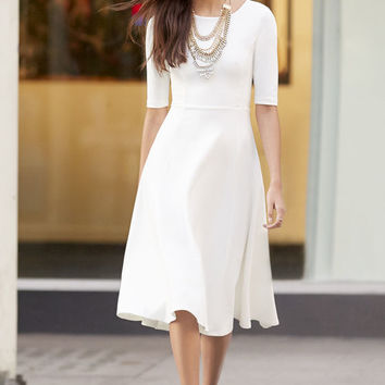 Having a Shindig Ivory Midi Dress