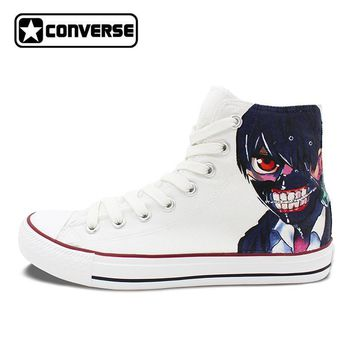 Anime Tokyo Ghoul Masked Kaneki Hand Painted Converse All Stars