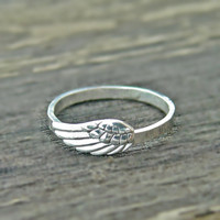 ANGEL WING ring Sterling silver, angels