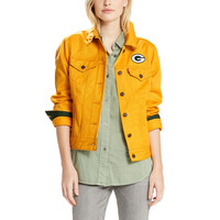 Women's Green Bay Packers Levi's Gold Twill Trucker Button-Up Jacket