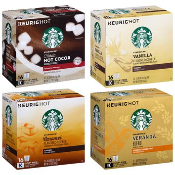 Starbucks Variety Pack of 124 K-Cup Pods
