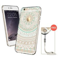 iPhone 6s Case, iPhone 6s Case Clear, iPhone 6s Case Mint Henna, ESR Totem Series Hybrid Case [One Piece] TPU Bumper +Hard PC Back Cover Protective Case for 4.7 inches iPhone 6s / 6(Mint Mandala)