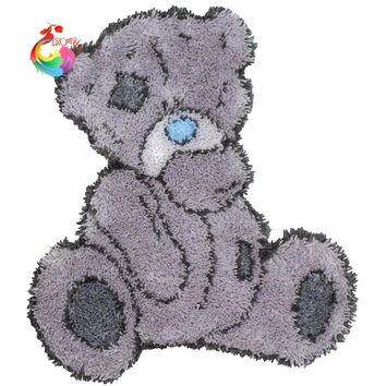 cross-stitch needlework thread counted cross stitch embroidery kits embroidered carpet mats Latch hook rug kits Cute Bear Hobby
