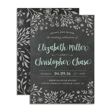 Chalkboard Herbs - Wedding Invitation