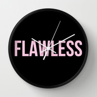 Flawless - Woke Up Like This B yonce Queen B Wall Clock by Rachel Additon