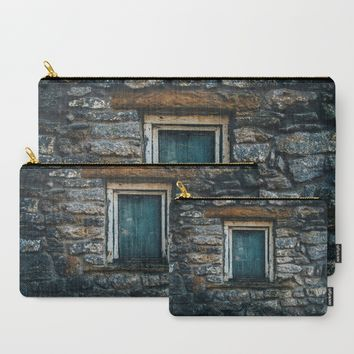 Who's That Peepin' In The Window? Carry-All Pouch by Mixed Imagery