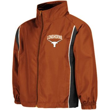 Texas Longhorns Preschool Burnt Orange Drop Kick Full Zip Jacket - http://www.shareasale.com/m-pr.cfm?merchantID=42812&userID=1042934&productID=534106094 / Texas Longhorns