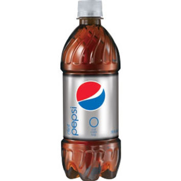 Diet Pepsi 20 oz Bottles - Case of 24