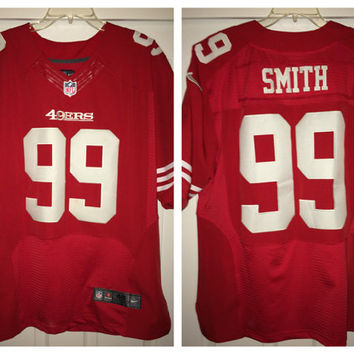 Sale!! Vintage Nike SAN FRANCISCO 49ers Authentic Football Jersey NfL Shirt #99 Smith